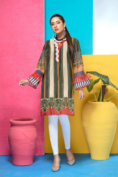 DM-21-SAFWA DIGITAL PRINTED MESURI SHIRT COLLECTION 2020 - MESURI LAWN SHIRT-KURTI