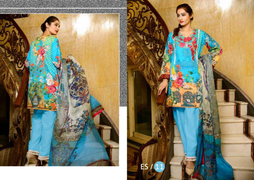 ES-11-SAFWA EVA SATIN COLLECTION vol 1-3 PIECE SUIT-Three Piece Suit Dress Design, Pakistani Dresses, Online Shopping in Pakistan