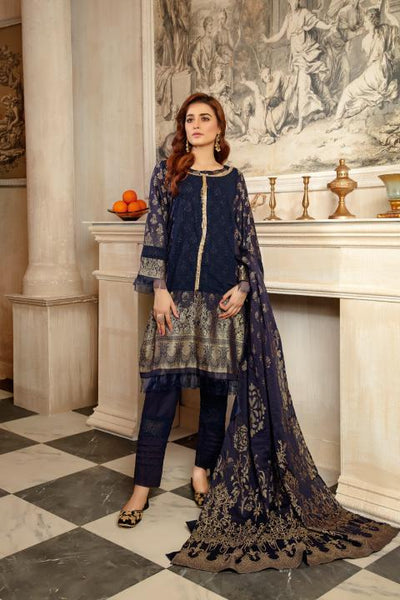 JC-11-SAFWA JACQUARD Lawn Cotton COLLECTION Vol 2 2020 - 3 PIECE DRESS - Safwa | Dresses | Pakistani Dresses | Fashion| Online Shopping