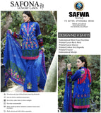 SA-011 - SAFWA LAWN - SAFONA COLLECTION - EMBROIDERED - 3 PIECE DRESS