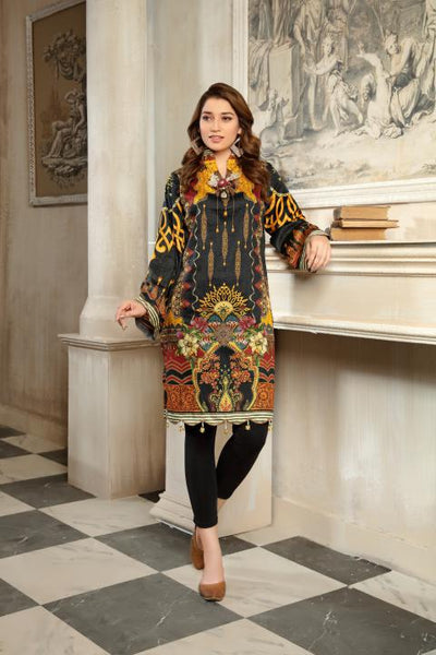 CST-11 - SAFWA DIGITAL COTTON SATIN PRINT KURTI COLLECTION -SHIRT| KURTI | KAMEEZ -SAFWA BRAND PAKISTAN , DRESS DESIGN, DRESSES , PAKISTANI DRESSES