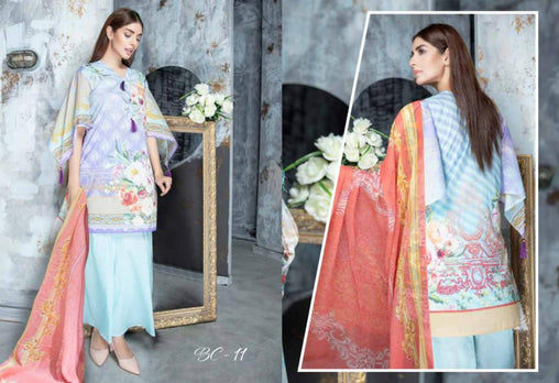 BC-11 - BELLA COLLECTION - 3 PIECE SUIT 2019-Three Piece Suit-SAFWA -SAFWA Brand Pakistan online shopping for Designer Dresses| SAFWA| DRESS| DESIGN| DRESSES| PAKISTANI DRESSES
