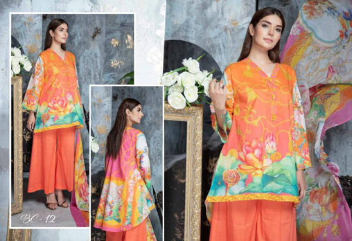 BC-12 - BELLA COLLECTION - 3 PIECE SUIT 2019-Three Piece Suit-SAFWA -SAFWA Brand Pakistan online shopping for Designer Dresses| SAFWA| DRESS| DESIGN| DRESSES| PAKISTANI DRESSES