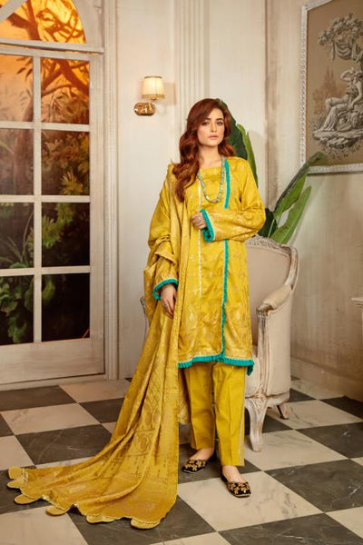 JC-12-SAFWA JACQUARD Lawn Cotton COLLECTION Vol 2 2020 - 3 PIECE DRESS - Safwa | Dresses | Pakistani Dresses | Fashion| Online Shopping