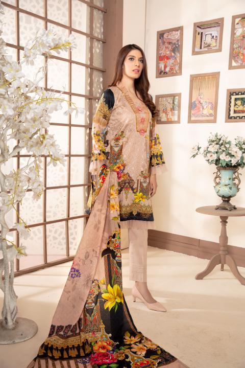 Sm-19 - SAFWA DIGITAL EMBROIDERED 3 PIECE MODA COLLECTION -SHIRT Trouser and Duptta |SAFWA DRESS DESIGN| DRESSES| PAKISTANI DRESSES| SAFWA -SAFWA Brand Pakistan online shopping for Designer Dresses