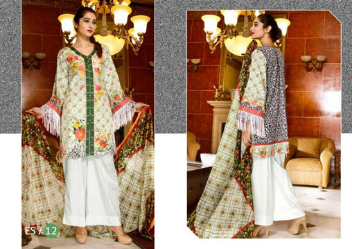 ES-12-SAFWA EVA SATIN COLLECTION vol 1-3 PIECE SUIT-Three Piece Suit Dress Design, Pakistani Dresses, Online Shopping in Pakistan