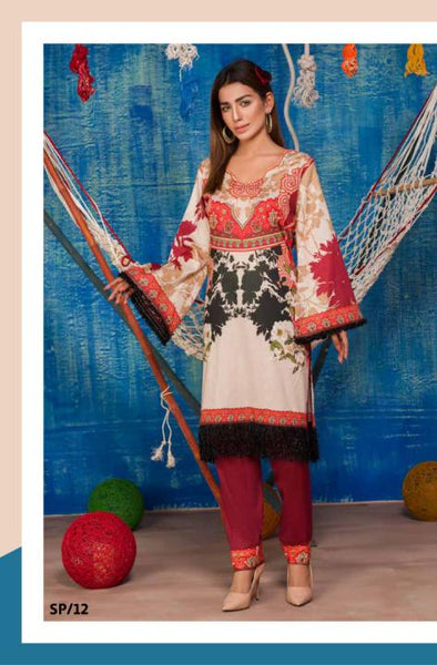 SP-12-SAFWA PREMIUM LAWN-SERENE PLUS COLLECTION-DIGITAL 2 PIECE - Safwa-Pakistani Dresses-Dresses-Kurti-Shop Online