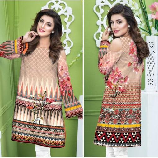 DG138- SAFWA DIGITAL COTTON PRINT KURTI COLLECTION -SHIRT KURTI KAMEEZ-Shirt-Kurti-SAFWA -SAFWA Brand Pakistan online shopping for Designer Dresses SAFWA DRESS DESIGN, DRESSES, PAKISTANI DRESSES,