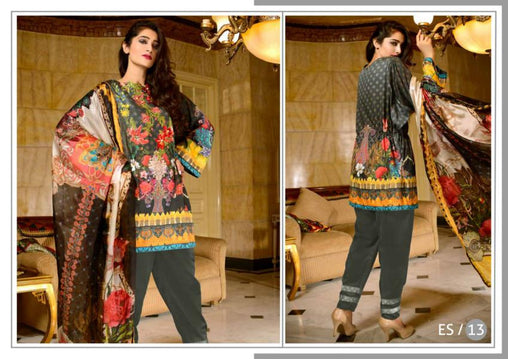 ES-13-SAFWA EVA SATIN COLLECTION vol 1-3 PIECE SUIT-Three Piece Suit Dress Design, Pakistani Dresses, Online Shopping in Pakistan