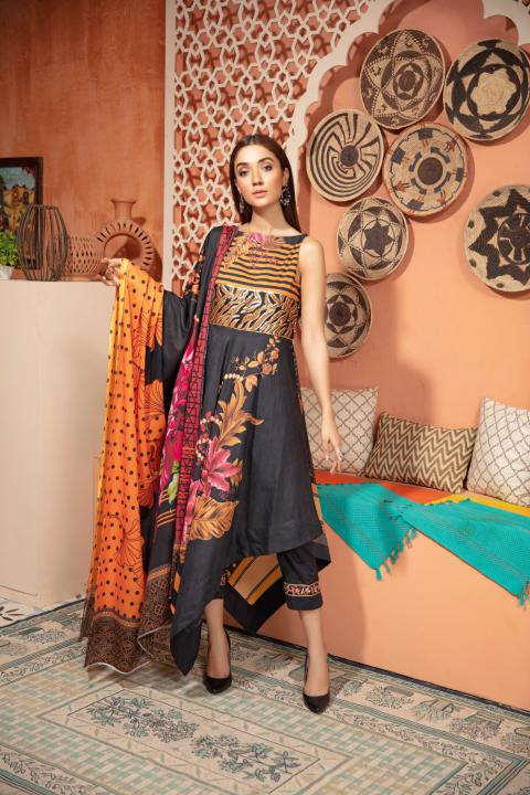 SU-13 - SAFWA URBAN COLLECTION VOL 2 2020 - 3 PIECE SUMMER DRESS COLLECTION