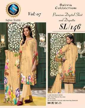 Sl-146-SAFWA LAWN-SALVIA COLLECTION- PRINTED -2 PIECE DRESS