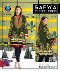 DG 146- SAFWA DIGITAL COTTON PRINT KURTI COLLECTION - VOL 13 2020 -SHIRT KURTI KAMEEZ