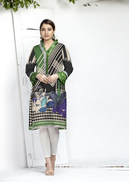 DG 147- SAFWA DIGITAL COTTON PRINT KURTI COLLECTION - VOL 13 2020 -SHIRT KURTI KAMEEZ