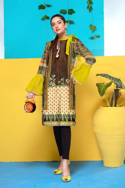 DM-24-SAFWA DIGITAL PRINTED MESURI SHIRT COLLECTION 2020 - MESURI LAWN SHIRT-KURTI