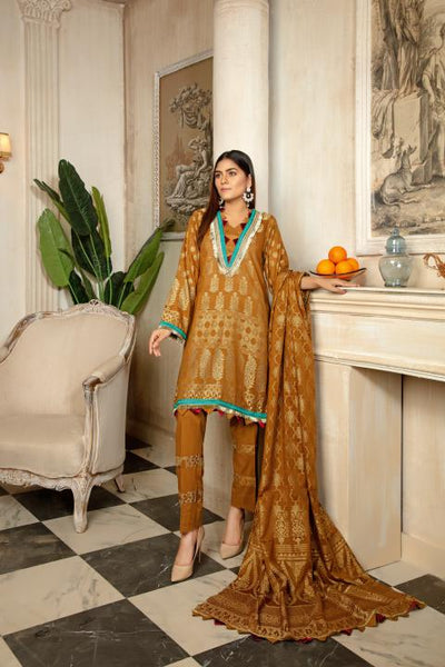 JC-14-SAFWA JACQUARD Lawn Cotton COLLECTION Vol 2 2020 - 3 PIECE DRESS - Safwa | Dresses | Pakistani Dresses | Fashion| Online Shopping