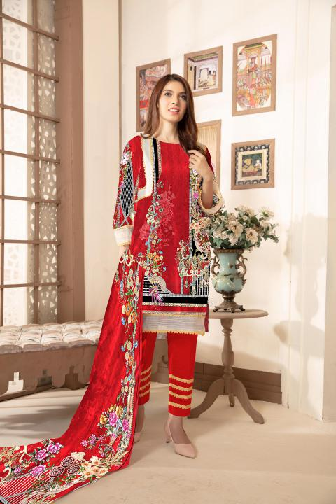 Sm-21 - SAFWA DIGITAL EMBROIDERED 3 PIECE MODA COLLECTION -SHIRT Trouser and Duptta |SAFWA DRESS DESIGN| DRESSES| PAKISTANI DRESSES| SAFWA -SAFWA Brand Pakistan online shopping for Designer Dresses