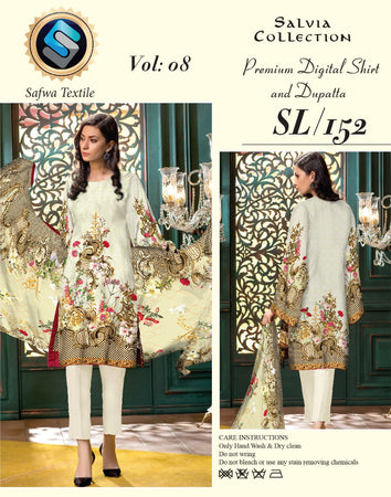 sl-152-safwa-lawn-salvia-collection-printed-2-piece-dress - Two Piece Suit - Safwa Pakistan Fashion