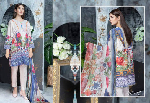BC-15 - BELLA COLLECTION - 3 PIECE SUIT 2019-Three Piece Suit-SAFWA -SAFWA Brand Pakistan online shopping for Designer Dresses| SAFWA| DRESS| DESIGN| DRESSES| PAKISTANI DRESSES