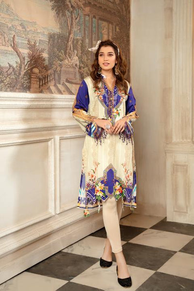 CST-15 - SAFWA DIGITAL COTTON SATIN PRINT KURTI COLLECTION -SHIRT| KURTI | KAMEEZ -SAFWA BRAND PAKISTAN , DRESS DESIGN, DRESSES , PAKISTANI DRESSES