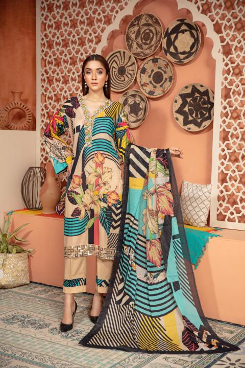 SU-15 - SAFWA URBAN COLLECTION VOL 2 2020 - 3 PIECE SUMMER DRESS COLLECTION