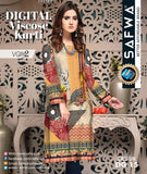 DG-15- SAFWA DIGITAL VISCOSE PRINT KURTI COLLECTION -SHIRT KURTI KAMEEZ-VOL 2 2019