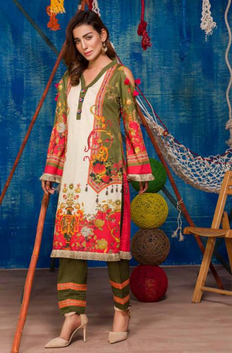 SP-15-SAFWA PREMIUM LAWN-SERENE PLUS COLLECTION-DIGITAL 2 PIECE - Safwa-Pakistani Dresses-Dresses-Kurti-Shop Online