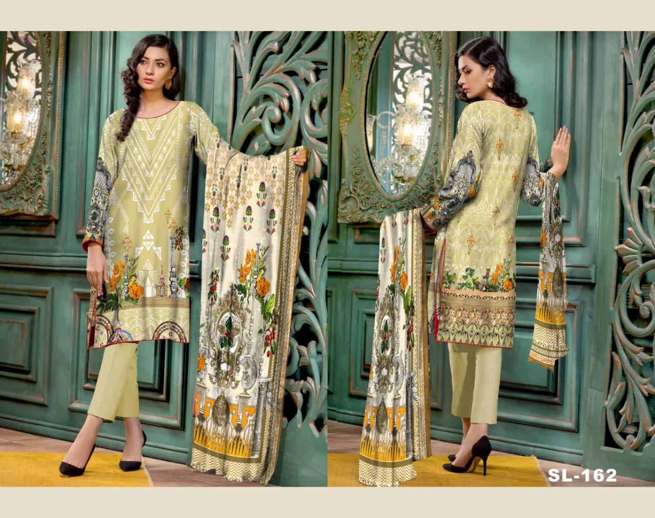 sl-162-safwa-lawn-salvia-collection-printed-2-piece-dress - Two Piece Suit - safwa