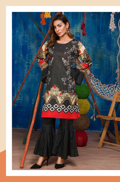 SP-16-SAFWA PREMIUM LAWN-SERENE PLUS COLLECTION-DIGITAL 2 PIECE - Safwa-Pakistani Dresses-Dresses-Kurti-Shop Online