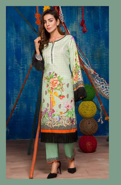 SP-17-SAFWA PREMIUM LAWN-SERENE PLUS COLLECTION-DIGITAL 2 PIECE - Safwa-Pakistani Dresses-Dresses-Kurti-Shop Online