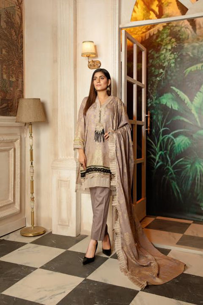 JC-17-SAFWA JACQUARD Lawn Cotton COLLECTION Vol 2 2020 - 3 PIECE DRESS - Safwa | Dresses | Pakistani Dresses | Fashion| Online Shopping