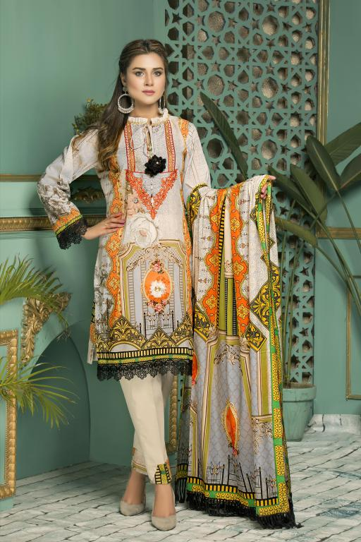 S-17-SAFWA GLORY COLLECTION Vol 2-3 PIECE SUIT SAFWA Three Piece Suit Dress Design, Pakistani Dresses, Online Shopping in Pakistan