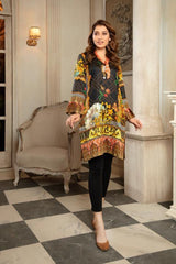 CST-17 - SAFWA DIGITAL COTTON SATIN PRINT KURTI COLLECTION -SHIRT| KURTI | KAMEEZ -SAFWA BRAND PAKISTAN , DRESS DESIGN, DRESSES , PAKISTANI DRESSES