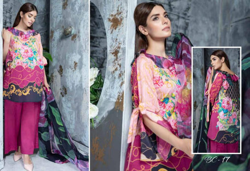 BC-17 - BELLA COLLECTION - 3 PIECE SUIT 2019-Three Piece Suit-SAFWA -SAFWA Brand Pakistan online shopping for Designer Dresses| SAFWA| DRESS| DESIGN| DRESSES| PAKISTANI DRESSES