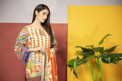 MCA 18 - SAFWA DIGITAL MODALLE 3 PIECE PRINT COLLECTION -SHIRT Trouser and Duptta |SAFWA DRESS DESIGN| DRESSES| PAKISTANI DRESSES| SAFWA -SAFWA Brand Pakistan online shopping for Designer Dresses