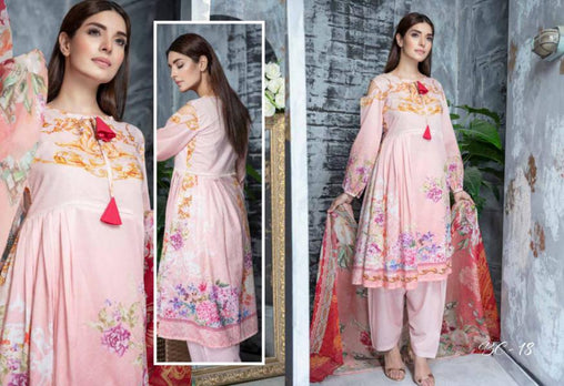 BC-18 - BELLA COLLECTION - 3 PIECE SUIT 2019-Three Piece Suit-SAFWA -SAFWA Brand Pakistan online shopping for Designer Dresses| SAFWA| DRESS| DESIGN| DRESSES| PAKISTANI DRESSES