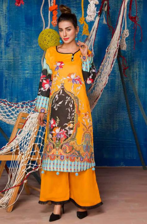 SP-19-SAFWA PREMIUM LAWN-SERENE PLUS COLLECTION-DIGITAL 2 PIECE - Safwa-Pakistani Dresses-Dresses-Kurti-Shop Online