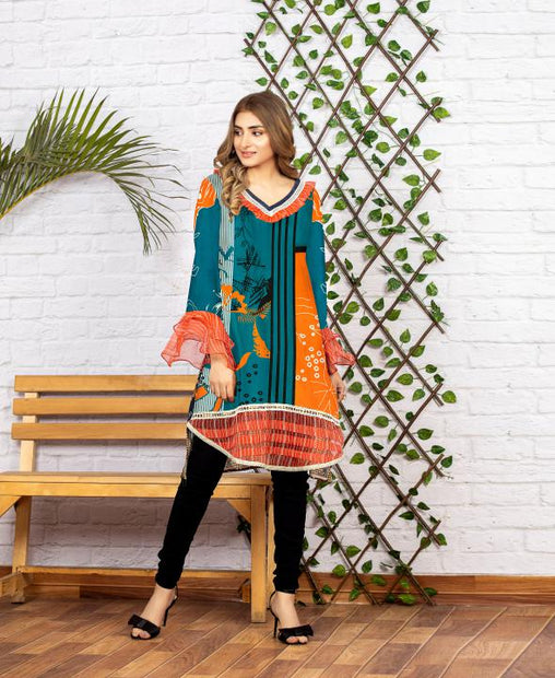 SSC/19 - SERENE COLLECTION VOL 4 2020 - SAFWA PREMIUM LAWN - DIGITAL SHIRT - KURTI