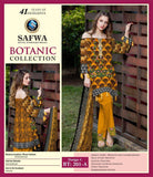 BT-201-A - SAFWA LAWN - BOTANIC COLLECTION - EMBROIDERED - 3 PIECE DRESS