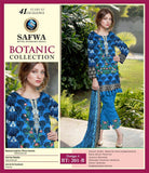 BT-201-B - SAFWA LAWN - BOTANIC COLLECTION - EMBROIDERED - 3 PIECE DRESS