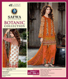 BT-206A - SAFWA LAWN - BOTANIC COLLECTION - EMBROIDERED - 3 PIECE DRESS