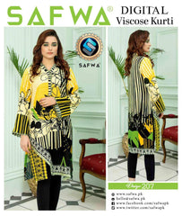 DVS-207 - SAFWA - DIGITAL SHIRT - KURTI - VISCOSE KAMEEZ -SAFWA DRESS DESIGN, DRESSES, PAKISTANI DRESSES,-Shirt-Kurti-SAFWA Textile -SAFWA Brand Pakistan online shopping for Designer Dresses