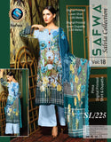 SL-225-SAFWA LAWN-SALVIA COLLECTION- PRINTED -2 PIECE DRESS