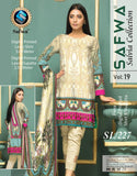 SL-227-SAFWA LAWN-SALVIA COLLECTION- PRINTED -2 PIECE DRESS