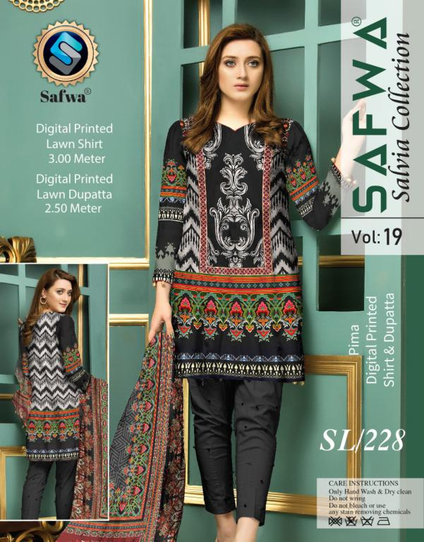 SL-228-SAFWA LAWN-SALVIA COLLECTION- PRINTED -2 PIECE DRESS - Safwa |Dresses| Pakistani Dresses| Fashion|Online Shopping