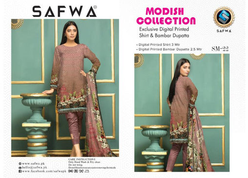 SM-22-SAFWA LAWN-MODISH COLLECTION- PRINTED -2 PIECE DRESS - Safwa |Dresses| Pakistani Dresses| Fashion|Online Shopping