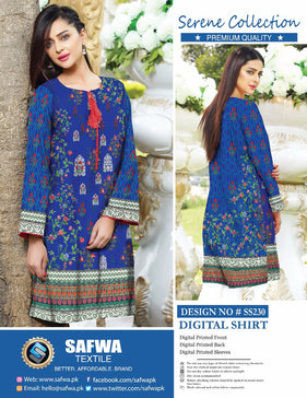 SS-230-SAFWA PREMIUM LAWN-SERENE COLLECTION-DIGITAL-SHIRTS