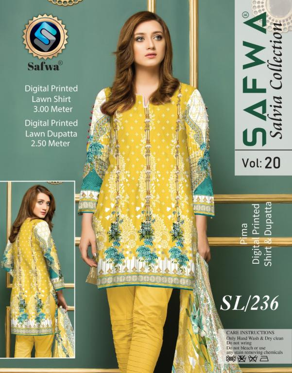 SL-236-SAFWA LAWN-SALVIA COLLECTION- PRINTED -2 PIECE DRESS - Safwa |Dresses| Pakistani Dresses| Fashion|Online Shopping