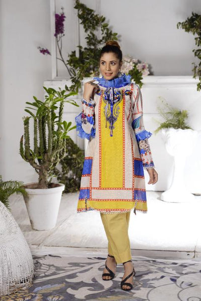 SSC-23 - SAFWA PREMIUM LAWN - STELLER COLLECTION Vol 2 2020 - EMBROIDERY DIGITAL - SHIRTS - Shirt-Kurti - safwa