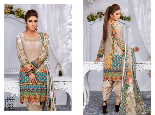 SAFWA DRESS DESIGN, DRESSES, PAKISTANI DRESSES, PR-23 - PRAHA COLLECTION - 3 PIECE SUIT 2019-Three Piece Suit-SAFWA -SAFWA Brand Pakistan online shopping for Designer Dresses
