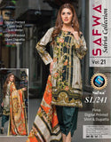 SL-241-SAFWA LAWN-SALVIA COLLECTION- PRINTED -2 PIECE DRESS